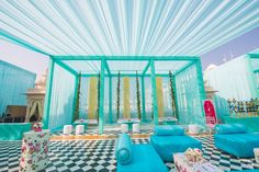 7 Loot-Worthy Decor Ideas From This Beautiful Pink & Blue Theme Mehendi in Udaipur!