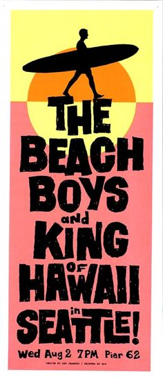Beach Boys (Art Chantry poster)
