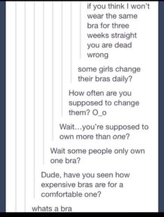 Wth?!?! I'll wear mine for more than two weeks XD And somebody needs to educate that dude