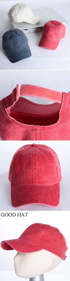 3pcs High quality Washed Cotton Adjustable Solid color Baseball Cap Unisex couple cap Fashion Leisure dad Hat Snapback cap