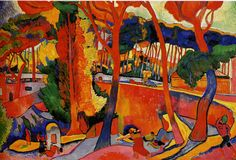 Andre Derain Fauvism | ... ). Andre Derain (1880-1954), The Turning Road at L'Estaque, 1906
