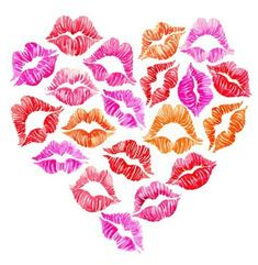 Adorable Art Prints Sealed With a Kiss kisses