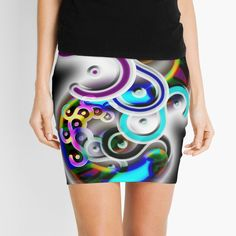 'Twisted' Mini Skirt by JSGinfograph Knitted Fabric, Mini Skirts, Printed, Knitting, Awesome, Art, Products, Art Background, Tricot