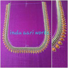 Mirror Work Kurti Design, Aari Work Blouse, Chain, Jewelry, Fashion, Moda, Jewlery, Jewerly, Fashion Styles