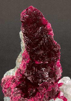 Roselite-beta (arsenic/ calcium/ cobalt/ magnesium) w/Calcite. Morocco