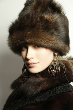 """Ralph Lauren Fall 2013 Fur Hat. To wear when I grow to be 5'11""""."""