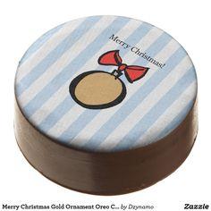 282463156d591f Merry Christmas Gold Ornament Oreo Cookies Blue German Christmas