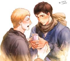 Find images and videos about attack on titan, shingeki no kyojin and reiner on We Heart It - the app to get lost in what you love. Attack On Titan Ships, Attack On Titan Anime, Armin, Yuri, Titans Anime, Anime Ships, Black Butler, Studio Ghibli, Cute Love