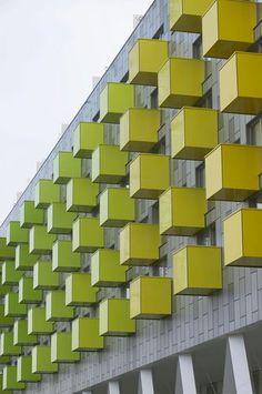 Panel de compuesto para revestimiento de fachada APARTMENTS BARKING LIBRARY TRESPA