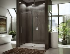 The KT In line model is part of our top quality Kinetik Collection. This glass shower enclosure is offer with superior rolling system. Custom Shower Doors, Glass Shower Doors, Glass Doors, Modern Shower, Modern Bathroom, Bathroom Ideas, Master Bathroom, Bath Ideas, Bathroom Designs