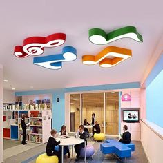 Piano music classroom LED ceiling lamp notes kindergarten cartoon lights childre… – My Home Design 2019 Kindergarten Interior, Kindergarten Design, Kindergarten Music, Daycare Design, School Design, Music Classroom, Classroom Decor, Led Ceiling Lamp, Ceiling Lights