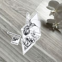 Dotwork humming bird with trumpet creeper! Downloads and requests: www.rawaf.shop ☠