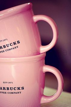 pink cups Starbucks