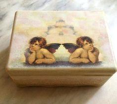 #handmade #etsy #jewelrybox #girls #home #decoration #decoupage #gift #birthdaypresent #angels