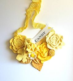 Candy Necklace, Vintage Inspired, CUSTOM color and flavor / as seen on brides.prestonbailey.com....now this is a candy necklace - great gift idea for next girls night!