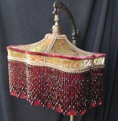 Vintage Lamp Shades | Vintage Victorian Bridge Lamp Shade