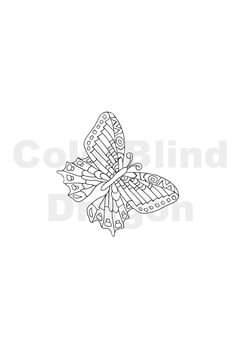Butterfly Coloring Pages Adult By Colorblinddragon On Etsy