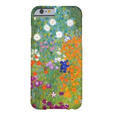 Flower Garden by Gustav Klimt Vintage Floral Barely There iPhone 6 Case  | Visit the Zazzle Site for More: http://www.zazzle.com/?rf=238228028496470081 [Referral Link]