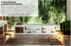 "PRESS: MOMA Design on Russian magazine ""100% Bathrooms"" talks about our SAINT-TROPEZ Bathtub in Corian! #архитектура"