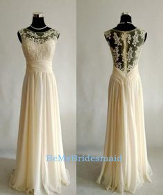 Processing+time:+1-2+weeks+ Shipping+Time:+3-5+business+days  Rush+order,+customs+size+and+color+is+available,+and+no+extra+cost.  Material:+Chiffon Shown+Color:+Light+Champagne Hemline:Floor+Length+ Embellishments:+Lace+Applique Neckline:+Round  For+Custom+Size,+Please+leave+following...