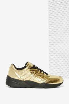 Puma x Vashtie R698 Metallic Gold Sneaker | Shop Shoes at Nasty Gal!