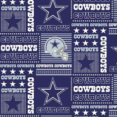 Dallas Cowboys fabric patchwork National Football League NFL fabric blue silver stars Texas cotton quilting sewing fabric by the Yard Nfl Football Teams, Nfl Dallas Cowboys, Cowboys Football, Nfl Sports, Pittsburgh Steelers, Dallas Cowboys Quotes, Cowboys Helmet, Sports Art, Patchwork Fabric