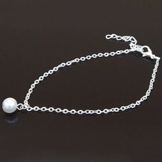 pearl bead anklet silver plated anklet women anklet cute visit us on canawan.com