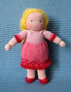 Knitted waldorf dolls (18 сm)