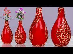Plastic bottle flower vase // Easy Flower vase making at home // ফুলদানী তৈরি Plastic Bottle Flowers, Plastic Bottle Crafts, Recycle Plastic Bottles, Plastic Vase, Flower Vase Making, Flower Vases, Flower Pots, Cardboard Box Diy, Vase Crafts