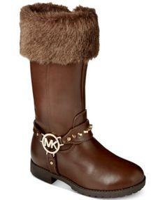 MICHAEL Michael Kors Girls' or Little Girls' Dhalia Hayden Faux-Fur Top Boots | macys.com