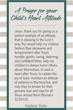 Do you pray for the heart of your child? May this Scripture prayer for your child help you create a firm foundation of faith as you help your child learn to love the Lord. || Kaylene Yoder Prayers For My Daughter, Prayer For Parents, Praying For Your Children, Mom Prayers, Prayers For Children, Simple Prayers, Morning Scripture, Family Scripture, Prayer For Peace
