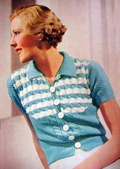 1930s free vintage knitting pattern Pretty summer woolly / http://www.work4idlehands.co.uk/Pattern_of_the_month/archives/2008/05/pretty_summer_woolley_1.html#comments