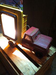 Vintage Tonka Dumpster Lamp by CandilandArt on Etsy