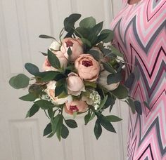 A personal favorite from my Etsy shop https://www.etsy.com/listing/264900693/peony-bouquet-pink-peony-bouquet-blush