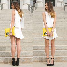 Pow Bag, Bcbg Black Strap Wedges, Bcbg Spring Dress