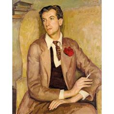 Henry Lamb (British, 1885-1960).  Portrait of Sir Cecil Beaton.  Oil on canvas