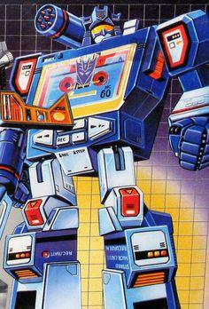 80s Transformers box artwork for Soundwave
