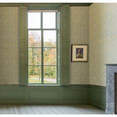 Papier peint Médaillons fleuris bleu cie - collection Anvers de Montecolino : Papier peint chambre, Cuisine, entrée, pièce à vivre, Salle de bain à motifs