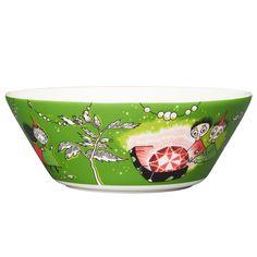 Moomin bowl, Thingumy and Bob, green