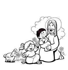 Imagenes De Jesus Para Dibujar Para Ninos On Log Wall