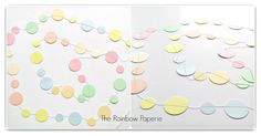 3m Pastel Circles Paper Garland by TheRainbowPaperie