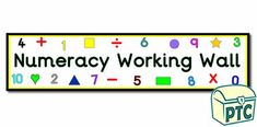 Numeracy Classroom Displays - Primary Treasure Chest Maths Display, Display Banners, Classroom Banner, Classroom Displays, Sensory Activities, Activities For Kids, Working Wall Display, Year 1 Maths, Maths Area