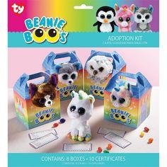 Hard To Find Party Supplies - Beanie Boos Adoption Kits Panda Birthday, Puppy Birthday, 8th Birthday, Birthday Ideas, Golden Birthday, Rainbow Birthday, Birthday Parties, Beanie Boo Party, Ty Beanie Boos