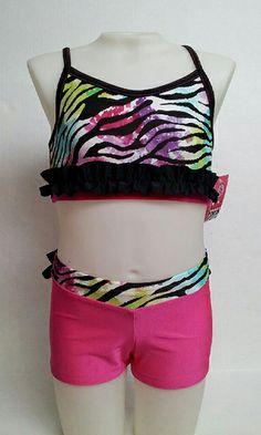 Sadie Jane Dancewear - Rainbow Zebra Set, $53.00 (http://www.sadiejane.com/rainbow-zebra-set/)