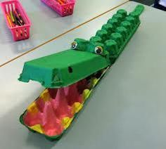 egg carton crocodile - Google Search