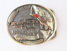 Zebco Anniversary Belt Buckle Solid Brass 1949 to 1989, Ltd Ed. Great American Buckle Co