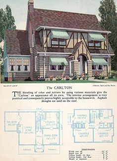 1928 from the Home Builders Catalog  The Carlton