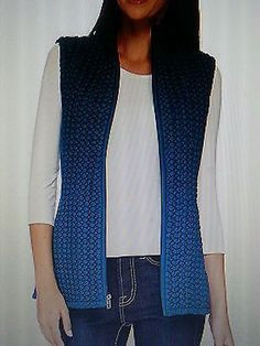 Susan Graver Zip Front Vest 3X 26 28 Plus Size Teal Vest New QVC A268575