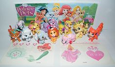 Disney Princess Palace Pets Set of 12 Mini Figures and Special Temporary Tattoos featuring Puppies Kittens and Ponies * Want additional info? Click on the image.