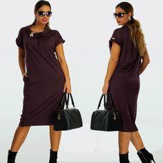 Larger Size Women Dresses Casual Plus Size Women Clothes Pure Color Tunic Summer Dress Bow-Neck Work Bodycon Dress L -6XL